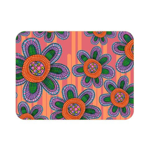 Colorful Floral Dream Double Sided Flano Blanket (Mini)