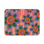 Colorful Floral Dream Double Sided Flano Blanket (Mini)  35 x27 Blanket Back