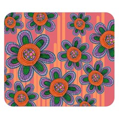 Colorful Floral Dream Double Sided Flano Blanket (small)
