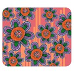 Colorful Floral Dream Double Sided Flano Blanket (Small)  50 x40 Blanket Back