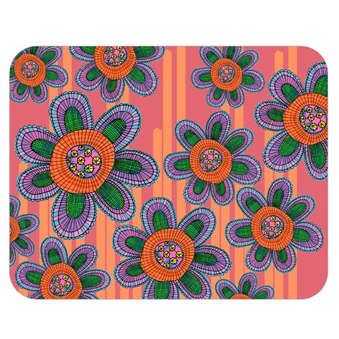 Colorful Floral Dream Double Sided Flano Blanket (Medium)