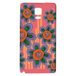 Colorful Floral Dream Galaxy Note 4 Back Case Front