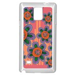 Colorful Floral Dream Samsung Galaxy Note 4 Case (White) Front