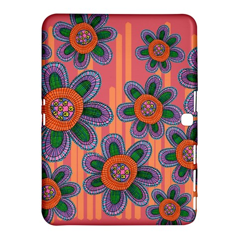 Colorful Floral Dream Samsung Galaxy Tab 4 (10.1 ) Hardshell Case