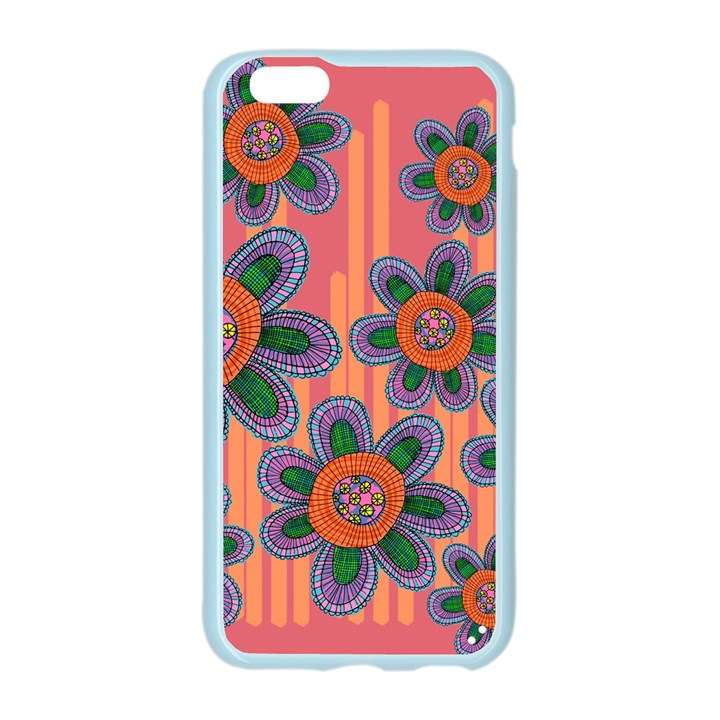 Colorful Floral Dream Apple Seamless iPhone 6/6S Case (Color)