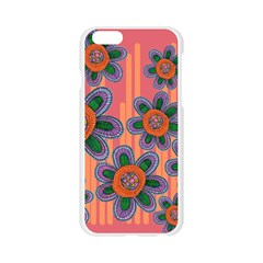 Colorful Floral Dream Apple Seamless iPhone 6/6S Case (Transparent)