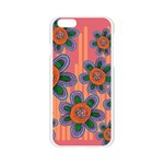 Colorful Floral Dream Apple Seamless iPhone 6/6S Case (Transparent) Front