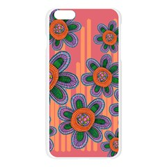 Colorful Floral Dream Apple Seamless iPhone 6 Plus/6S Plus Case (Transparent)