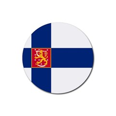 State Flag of Finland  Rubber Round Coaster (4 pack)