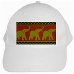 Elephant Pattern White Cap Front