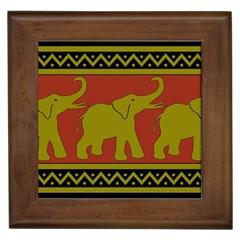 Elephant Pattern Framed Tiles