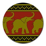 Elephant Pattern Round Mousepads Front