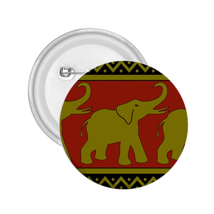 Elephant Pattern 2.25  Buttons