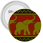 Elephant Pattern 3  Buttons Front
