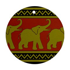 Elephant Pattern Ornament (Round)