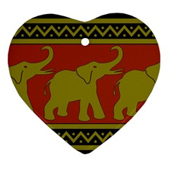 Elephant Pattern Ornament (Heart)
