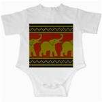Elephant Pattern Infant Creepers Front