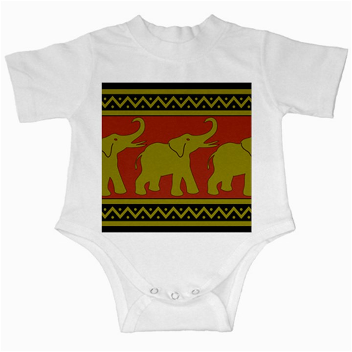 Elephant Pattern Infant Creepers
