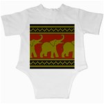 Elephant Pattern Infant Creepers Back