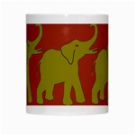 Elephant Pattern White Mugs Center