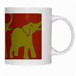 Elephant Pattern White Mugs Right
