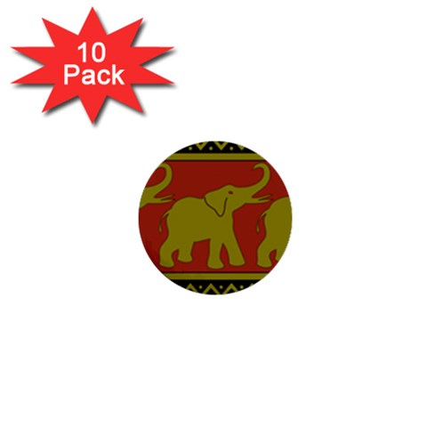 Elephant Pattern 1  Mini Buttons (10 pack)