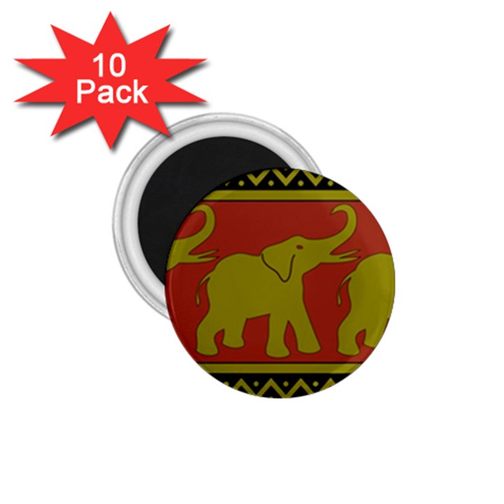 Elephant Pattern 1.75  Magnets (10 pack)