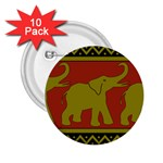 Elephant Pattern 2.25  Buttons (10 pack)  Front