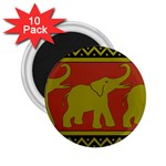 Elephant Pattern 2.25  Magnets (10 pack)  Front