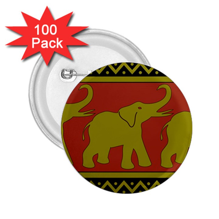 Elephant Pattern 2.25  Buttons (100 pack)