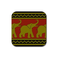 Elephant Pattern Rubber Coaster (Square)