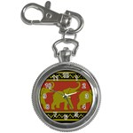 Elephant Pattern Key Chain Watches Front