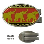 Elephant Pattern Money Clips (Oval)  Front