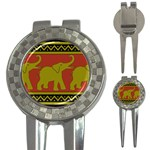 Elephant Pattern 3-in-1 Golf Divots Front