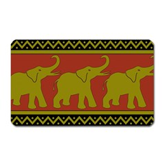 Elephant Pattern Magnet (Rectangular)