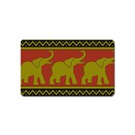 Elephant Pattern Magnet (Name Card) Front