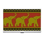 Elephant Pattern Business Card Holders Front