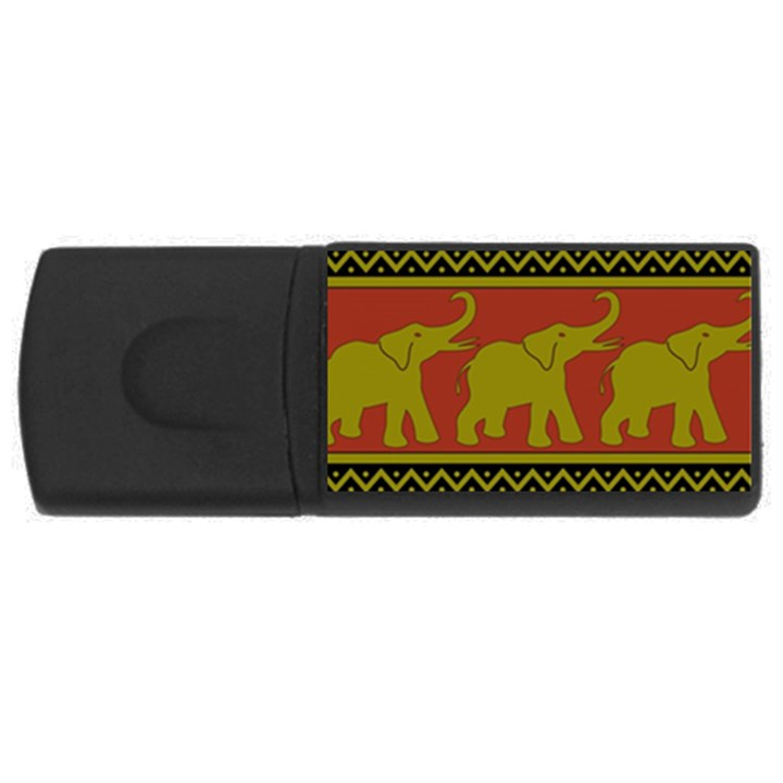 Elephant Pattern USB Flash Drive Rectangular (2 GB)