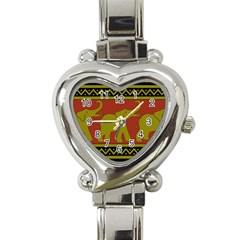 Elephant Pattern Heart Italian Charm Watch