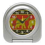 Elephant Pattern Travel Alarm Clocks Front
