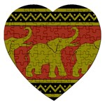 Elephant Pattern Jigsaw Puzzle (Heart) Front