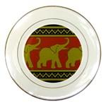 Elephant Pattern Porcelain Plates Front