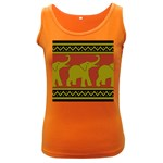 Elephant Pattern Women s Dark Tank Top Front