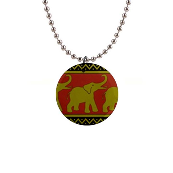 Elephant Pattern Button Necklaces