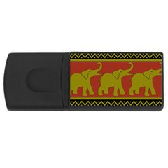 Elephant Pattern USB Flash Drive Rectangular (4 GB)