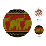 Elephant Pattern Playing Cards (Round)  Front