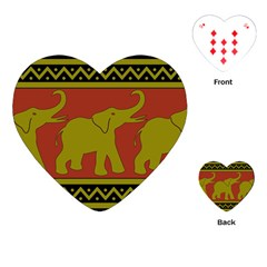 Elephant Pattern Playing Cards (Heart)