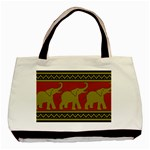 Elephant Pattern Basic Tote Bag Front