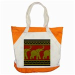 Elephant Pattern Accent Tote Bag Front