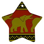 Elephant Pattern Star Ornament (Two Sides)  Front